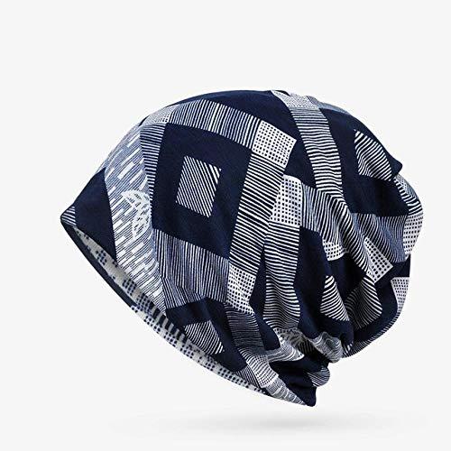 XCLWL beanie dames muts vrouwen slouchy beanie geometrisch patroon muts gebreide muts vrouwelijk mannelijk turban