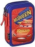 Disney Cars Saetta McQueen - Astuccio Triplo, 3 Scomparti, Pennarelli, Pastelli, Accessori Scuola 42 pezzi, Poliestere, Multicolore, giotto cars