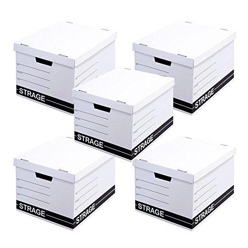 ストレージ クラフトボックス 5個セット 日本製 A4サイズ対応 ホワイト 収納ボックス フタ付き 収納ケース ダンボール製 おしゃれ A4サイズ対応