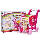 HJX888 Juegos de imitación para niños, Juegos Divertidos para niños y niñas,Carrito de Supermercado,Rosado