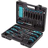 Bort BTK-42 - Werkzeugkoffer 42-teiliges Werkzeugset für Haushalt und Hobby, Universal und Haushalts-Werkzeuge, Qualitative Handwerkzeugsatz inkl. Bits, Schraubendreher etc.