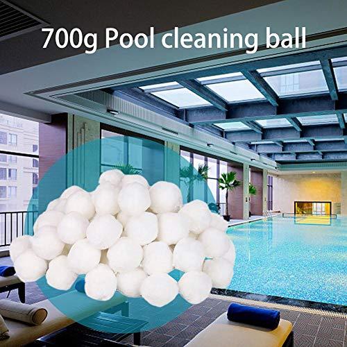 Quiet.T Filter Balls 700g Filtermaterial für Poolpumpe,rsetzen 25 kg Filtersand für Pool Sandfilter (Weiß)