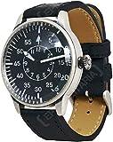 Mil-Tec Vintage Aviator Watch Black Dial Flieger Luftwaffe Pilot Quartz Mens World War 2 Wristwatch