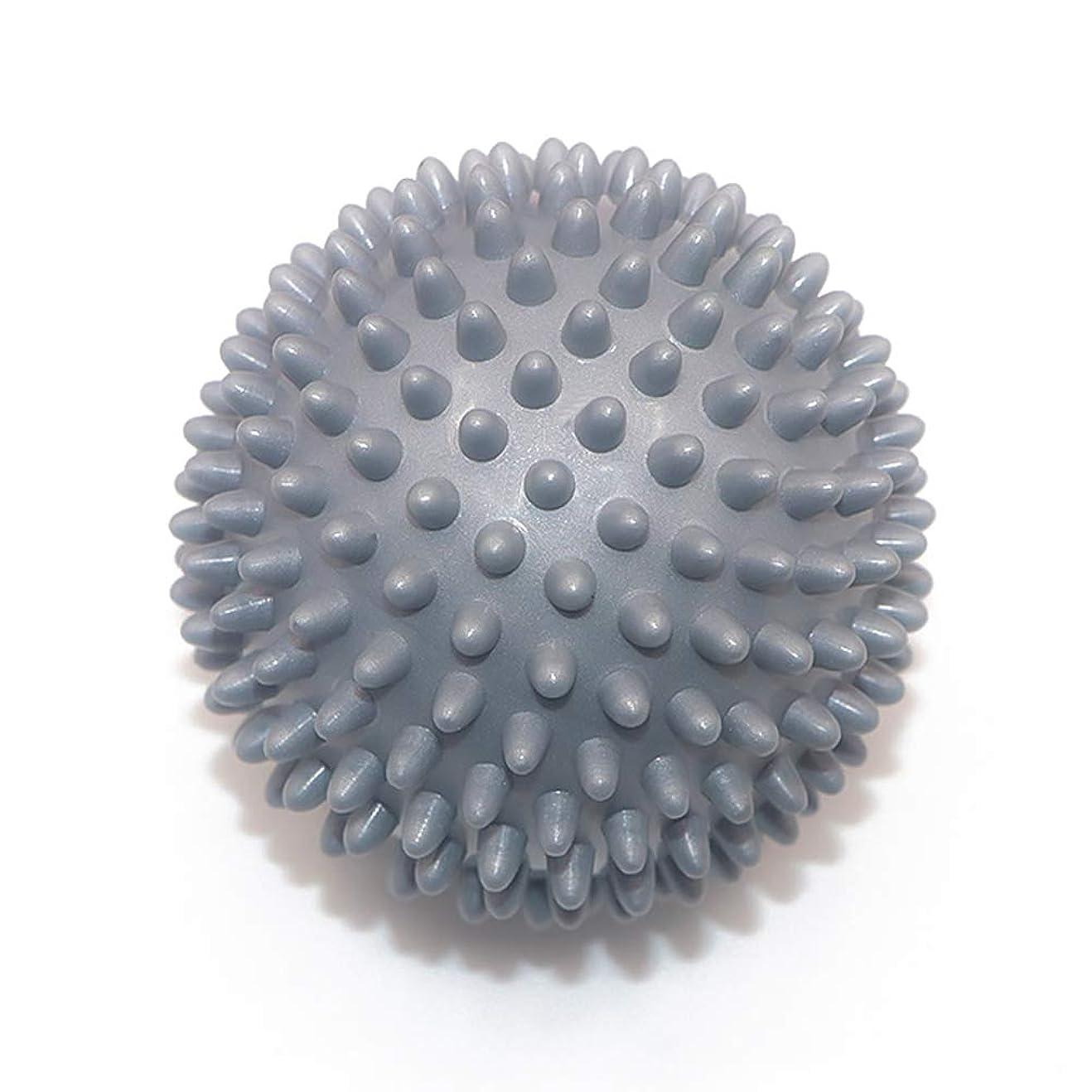 セメントスリンク技術的なLiti マッサージボール リハビリ 触覚ボール リフレクションボール 筋膜リリース リハビリ マッサージ用 グレー