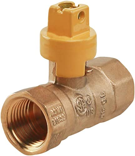 discount Midline outlet sale Valve GAS12SCRW Brass Premium Gas Ball Valve with Screwdriver Slotted online Handle, 1/2 in. FIP Connections outlet online sale