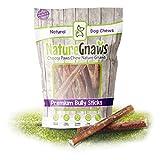 Nature Gnaws Large Bully Sticks 5-6 inch (50 Pack) Bulk - 100% Natural...