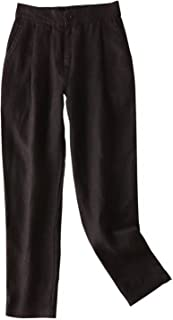 IXIMO Women's 100% Linen Pants Front Pleated Ankle Length Tapered Dress Pants