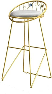 Bar Chairs Trend Mark Solid Wood Bar Chair Leisure Creative High Stool Personality Bar Chair Modern Simple Backrest High Stool. Furniture