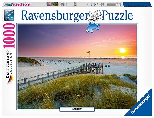 Ravensburger Puzzle 19877 - Sonnenuntergang über Amrum - 1000 Teile Puzzle für Erwachsene und Kinder ab 14 Jahren, Puzzle mit Strand-Motiv von der Nordsee