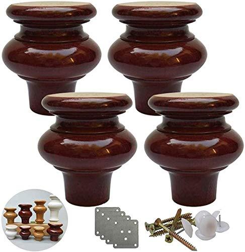 Piernas muebles de madera maciza, la forma de calabaza Pies de muebles de cocina, la sustitución patas de la mesa de café de madera, sofás pies, porque Dresser Gabinete Silla Sofá Sofá otomana, paquet