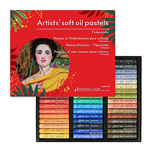 (48 Colors) VIOLETTO Non Toxic Soft Oil Pastels for Artist and Professional, Set of 48 Assorted...