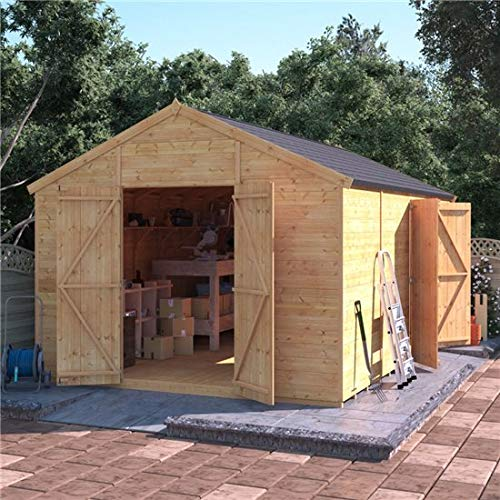 BillyOh Expert Tongue and Groove Apex Workshop with Dual Entrance (Windowless, 16x10)