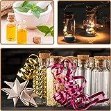 com-four® 60x Glasfläschchen ideales Gastgeschenk zur Hochzeit oder Geburtstag, Zubehör für Hochzeit, Tee, Gewürzen, Samen, Kräutern ca. 10 ml (060 Stück + Zubehör) - 3