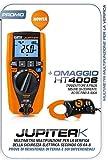 HT Kit Promo Jupiter Multimetro Multifunzione Verifica Sicurezza Autorange Tensione AC DC Misura Frequenza + HT4006 Omaggio Trasduttore Pinza Corrente Fino 400A