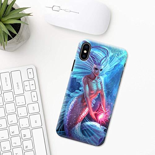 Sirene (Meerjungfrau) iPhone Hülle XR 11 X XS MAX Pro 8 7 Plus 6 6s 5 5s SE 2020 10 Plastik Silikon Apple iPhone phone case Ozean Fantasie Meer Griechische Mythologie