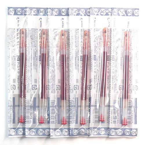 Pilot 0.4mm Red Ink Refill (LHRF-15C4-R), for Hi-Tec-C Cavalier Gel Ink Ballpoint Pen, 6 Packs/total 6 pcs (Japan Import) [Komainu-Dou Original Package]