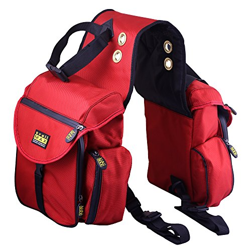 Trailmax 500 Back Saddle Pockets Rot Satteltasche Western Packtasche