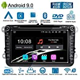 Ohok Autoradio Android 9.0 GPS 2 Din pour Seat Golf Polo Jetta Passat Touran Octa Core Stéréo Unité de tête 4G+32G...