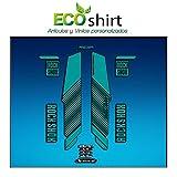 Ecoshirt A3-YODP-9HCK Pegatinas Stickers Horquilla Rock Shox Reba RL Fork Am57 MTB Downhill, Turquesa 29'