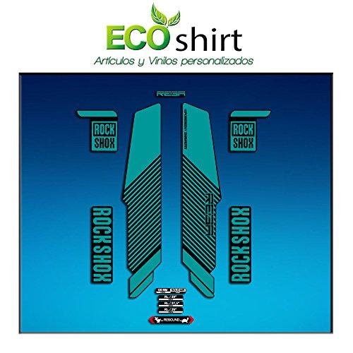 Ecoshirt A3-YODP-9HCK Aufkleber Gabel Rock Shox Reba RL Fork Am57 MTB Downhill, Türkis 29 Zoll