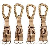 GES Molde multifunción de Nylon Militar Hebilla Colgante táctico Gancho Clave de Correas cinturón mosquetón Clip de Entrega Cintura Bolsa accessery Titular (4 PCS Kahai)