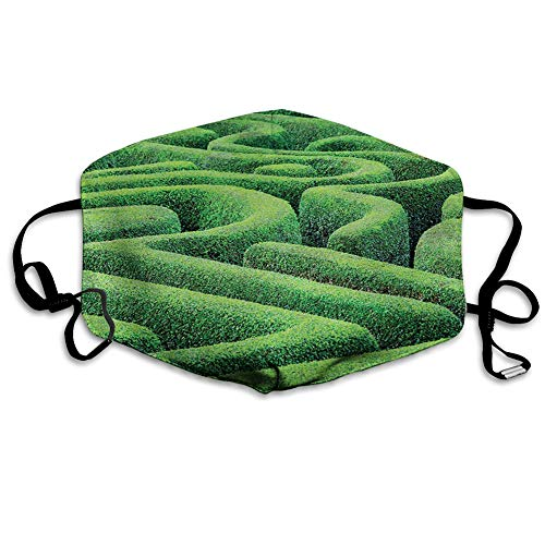 Confortevole copertura antivento per il viso, verde labirinto vegetale, ecologia e natura tema labirinto paesaggio all'aperto City Park.jpg, decorazioni facciali stampate per tutti