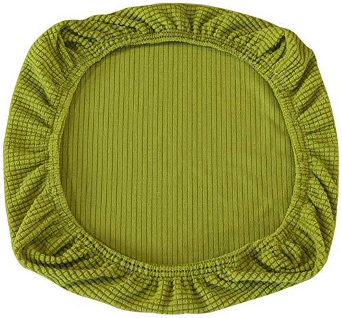 Yikko Fundas de asiento elásticas de spandex, lavables, para sillas de oficina, sillas de comedor, bar, decoración de bodas (verde amarillo)