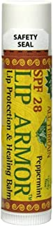 All Terrain Lip Armor, 15 Ounce, SPF 28, Mint Flavor, 0.15 oz, Chemical-Free Lip Balm and Sun Protection, Great for Hiking, Backpacking, Camping, Working Outdoors, Boating, and Water Sports