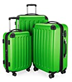 HAUPTSTADTKOFFER - Spree - 3er Koffer-Set Trolley-Set Rollkoffer Reisekoffer Erweiterbar, TSA, 4 Rollen, (S, M & L), Apfelgrün