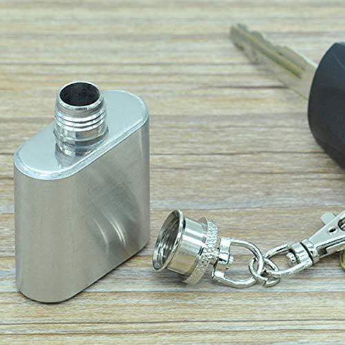 Kongqiabona-UK Flachmann-Set, tragbar, Edelstahl, 28 ml, russische Malerei, Whiskeyflasche, Schießpistole, Flachmann