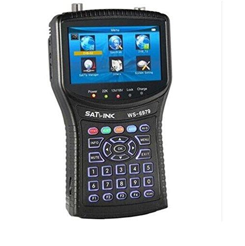 SATLINK WS-6979 DVB-S2 und DVB-T2 MPEG4 HD Combo + Konstellations-Analysator + Satelliten-Spektrumanalysator Meter Finder QPSK, 8PSK, 16APSK