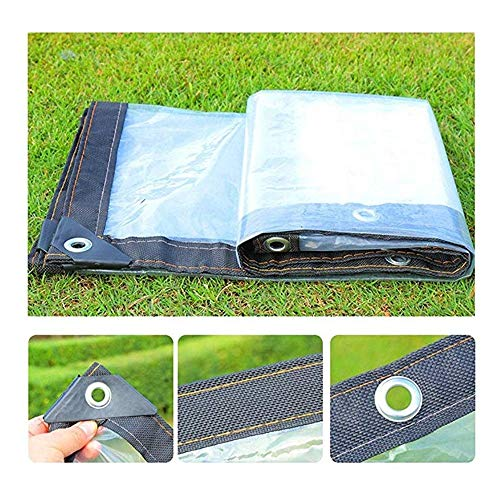 ZHANWEI Waterproof Clear Tarps, Multi-Purpose Tarpaulin, Household Outdoor Cover with Grommets Reinforced Edges, Size Customization (Size : 3Mx5M)