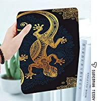 IPadケース スマートカバー アイパッドケース タブレットカバー アイパッド第四世代 第三世代 手描きドリームキャッチャーイラストエスニックボヘミアンスタイルのイメージ鮮やかな色の装飾的な
