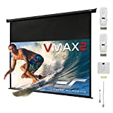 Elite Screens VMAX2, 150-inch 16:9, 24' Drop, Electric Motorized Drop Down HD Projection Projector Screen, VMAX150UWH2-E24
