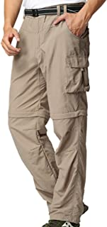Men's Outdoor Quick Dry Convertible Lightweight Hiking Fishing Zip Off Cargo Work Pants Trousers