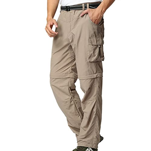0bd96bf7d6aeb6 Mens Hiking Pants Adventure Quick Dry Convertible Lightweight Zip Off  Fishing Travel Mountain Trousers