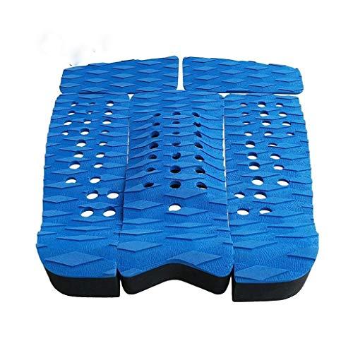 Tabla de Surf Hinchable Tabla de Surf, Kiteboard, Paddle Board, apretón de la Cubierta, Rear tracción Pad, Antideslizante, Auto Adhesivo, Ligero (Color : Blue)