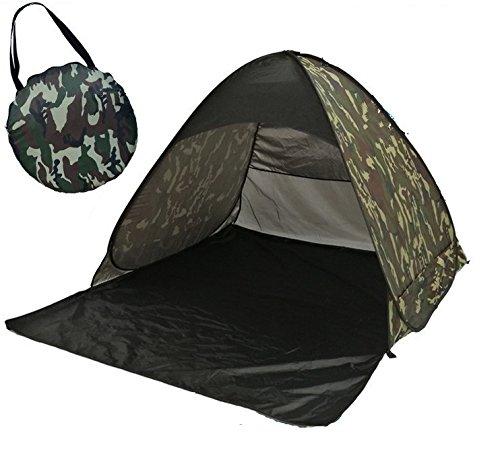 Super-Life Beach Tent Automatic Pop Up Sun Shelter Portable Cabana Outdoor Summer Sun Tent (Army Green)