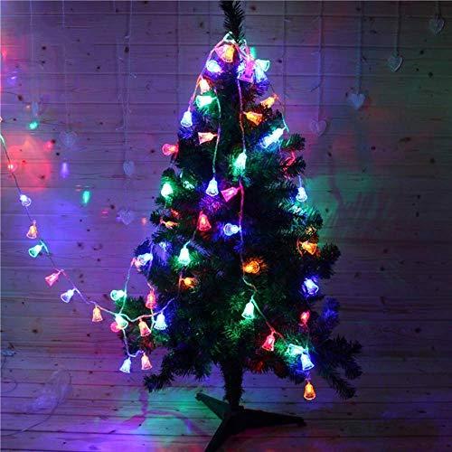 WARRT Arbol de Navidad Luces De Navidad Al Aire Libre Jingle Campanas Hadas Cuerda Luz Campanas Árbol De Navidad Decoración Luces