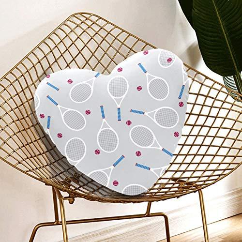 N\A Lustige Kissen Kissen Cartoon Unterhaltung Badmintonschläger Modernes Kissen 13,78 x 13,78 Zoll herzförmiges Kissen Geschenk für Freunde/Kinder/Mädchen/Valentinstag