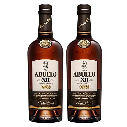 Ron Abuelo Añejo Two Oaks 12 años de 70 cl - Elaborado en Panama - Varela Hermanos S.A. (Pack de 2 botellas)