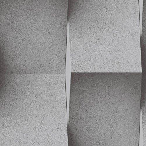 Papel pintado no tejido UGEPA baldosa de hormigón, Gris, J93619