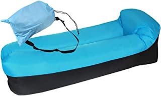 Od-sport Portable & Weightlight Inflatable Couch, Water Proof Lazy Boy Recliner with Travel Bag, Inflatable Lounger Futon Sofa Bed for Camping, Traveling,Picnics, Beach, Music Festivals (Blue)