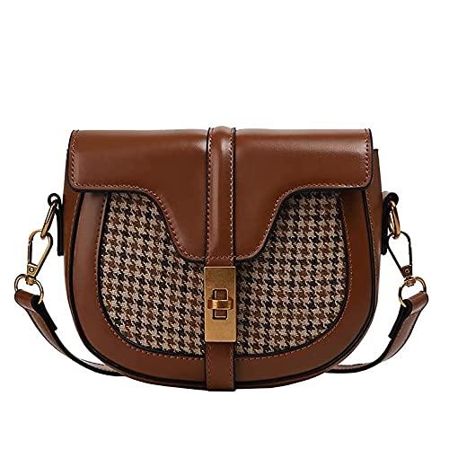 PU Leder Vintage Crossbody Satteltaschen Kleine Umhängetasche für Frauen Teenager Stilvolle Damen Handy Geldbörse Handtaschen Geldbeutel