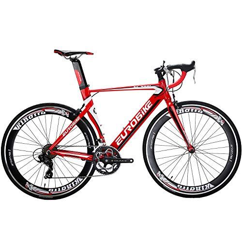 Eurobike OBK XC7000 Lightweight Aluminium Road Bike 700C Wheels Commuter Cycling...