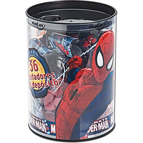 Apontador com Deposito Spider-Man, Pote com 36, Molin