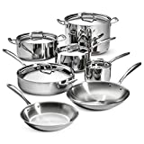 Tramontina 80116/567DS Stainless Steel Tri-Ply Clad Cookware Set, 12-Piece, Made in China