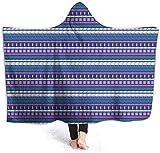 hgdfhfgd Hooded Blanket Hood Cloak Cape Wearable Cuddle Super Soft Sherpa Fleece 3D Blanket, Messy Dahlia Flower Pattern Inspired Design and Floral Print fashion11737