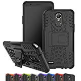 LG Stylo 3 Case, Viodolge [Shockproof] Hybrid Tough Rugged Dual Layer Protective Phone Case Cover with Kickstand for LG G Stylo 3 (Black)