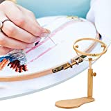 Adjustable Rotated Embroidery Frame Stand for Most Sizes of Hoops Embroidery Stand Hoop Wood Embroidery & Cross Stitch Hoop Ring Frame Sewing Tools